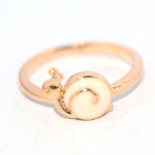 safety gold ring for baby kids children little girls lovely jewelry snail rings