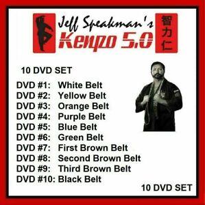 AMERICAN KENPO 5.0 KARATE 10 DVD SET FREE SHIPPING white to black  Jeff Speakman