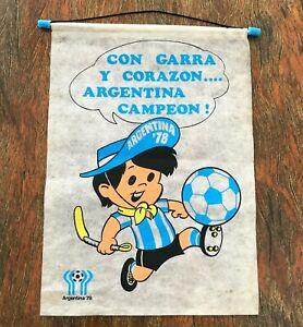 Argentina 1978 FIFA World Cup Official pennant. Vintage