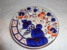 "19th.c Antique Gaudy  Welsh Plate, Oyster Pattern, England, 6-7/8"" Diameter"