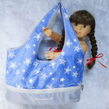 American Girl DOLL CARRIER Clothes Accessories Shoes TOTE BAG Purple Star Purse