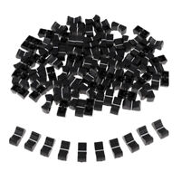 100 Pieces Touch Sensitive Slider Ribbed Mixer Fader Knob Caps 8mm Black