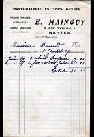 """NANTES (44) MARECHALERIE / FERRURES """"E. MAINGUY"""" en 1929"""