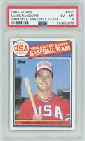 Mark McGwire 1985 Topps #401 RC Rookie (Athletics) PSA 8 NM-MT *CENTERED*
