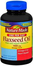 Nature Made Organic Flaxseed Oil Omega 3 Liquid Softgels 100 ct