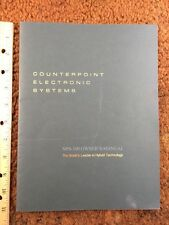 Counterpoint NPS-100 Poweramp Original Owners Operating Manual Approx 17 Pages