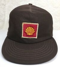 Vintage Shell Automotive Gas & Oil Station Brown Polyester Trucker Cap Hat