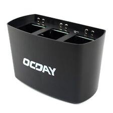 OCDAY 3 in 1 3 Port Charging Dock Slot Battery Charger for DJI Phantom 2 3 Black