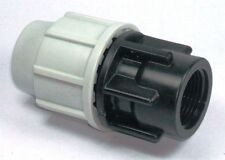 """PLASSON 20MM X 3/4"""" FEMALE MDPE COMPRESSION WATER PIPE STRAIGHT ADAPTOR 7030(SS)"""