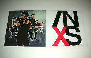 INXS X Michael Hutchence 2 Sided Promo 12x12 Poster Flat 1990 Mint-