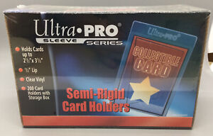 "Ultra Pro Sleeve Series 2.5"" X 3.5"" Semi-Rigid Card Holders - 200 Count"