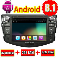Android 8.1 Car DVD Player GPS Navi Wifi Radio Stereo For Toyota RAV4 2006-2012