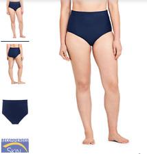 Lands End Slender Tummy Control Chlorine Resistant High Waisted Bikini Bottom 10