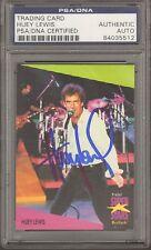 1991 Pro Set HUEY LEWIS Signed Autographed Trading Card PSA/DNA Slabbed 84035512