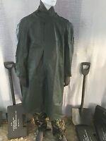 vintage (new) Swedish military medium / large  army green rain coat