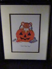 Charming Tails You'Re A Real Treat Framed Print Mouse Jack O Lantern