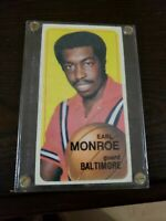 Earl Monroe Baltimore Bullets 1970-71 Topps Card #20