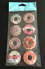 SCRAPBOOKING STICKERS JOLEE'S DONUTS BOULES A NEIGE 3D