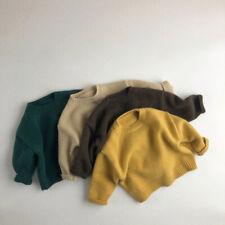 Kids Pullover Thicken Round Neck Children's Knitted Sweater Long Sleeve Literary
