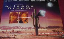 Cinema Poster: ARIZONA DREAM 1994 (Quad) Johnny Depp Faye Dunaway Vincent Gallo