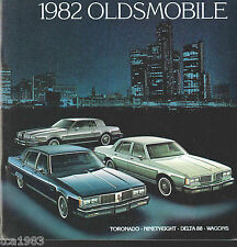 1982 OLDSMOBILE Brochure / Pamphlet: TORONADO,98,DELTA 88,Station Wagon,Brougham