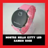 RARE  MONTRE HELLO KITTY HK LUXE LED BRACELET ROSE NEUVE LED FILLE FEMME SANRIO