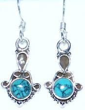 Turquoise 925 Sterling SILVER Earring Antique style Gemstone drop Earrings