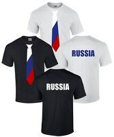 RUSSLAND RUSSIA T-SHIRT Trikot Fanshirt Fahne Flagge Fussball Krawatte Putin