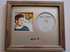 MATT CARDLE - THE FIRE CD - PERSONALLY SIGNED/AUTOGRAPHED FRAMED PRESENTATION.