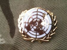 UN United Nations White Lapel Military Badge