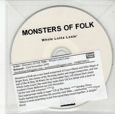 (DV456) Monsters of Folk, Whole Lotta Losin' - 2009 DJ CD