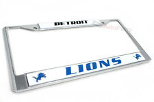 New!! DETROIT LIONS NFL LICENSE PLATE METAL CHROME TAG FRAME for AUTO CAR TRUCK