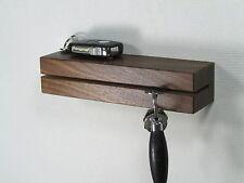 Schlüsselhalter Schlüsselbrett Schlüsselleiste Schlüssel Nussbaum Holz Ablage