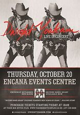 DWIGHT YOAKAM 2016 CANADA CONCERT TOUR POSTER - Playing Guitar Double Image