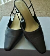 Liz Caiborne Flex Chocolate Brown Sling Back Pointy Toe Heels Size 9 M