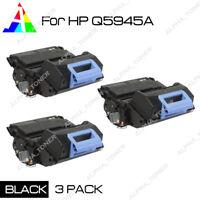 3 Pack Q5945A 45A Toner Cartridges For HP LaserJet 4345mfp 4345x 4345xm M4345x