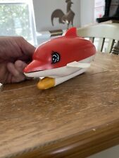 Vintage 1968 Bandai Battery Operated Swimming Dolphin Toy