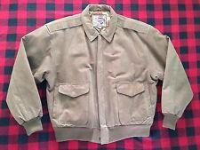 INTERNATIONAL LEATHER - Vtg 90s Brown Suede Bomber Jacket Coat, Mens XL - NICE!!