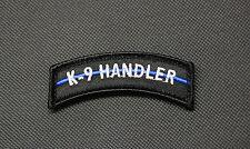 K9 Handler Blue Line Tab SWAT Police Tactical Rocker Morale Patch K-9b Hook