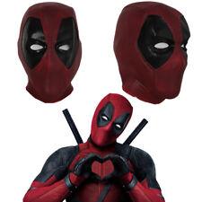 Deadpool Cosplay Mask Full Head Helmet Latex Costume Props Halloween Party Adult