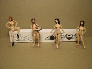 O SCALE  1/43  FIGURES  SET 272  NUDE  GIRLS  VROOM  UNPAINTED  FOR  MINICHAMPS