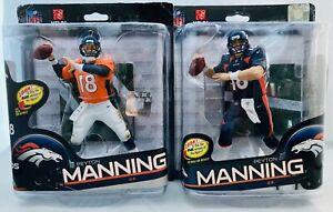 Two Peyton Manning McFarlane Denver Broncos NFL Football Action Figures 30 & 32