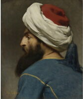 Jules Joseph Lefebvre Portrait Of An Ottoman Giclee Canvas Print Paintings