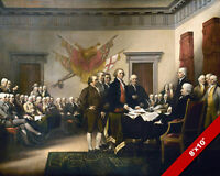 SIGNING THE DECLARATION OF INDEPENDENCE FINE ART PAINTING REAL CANVAS 8X10PRINT