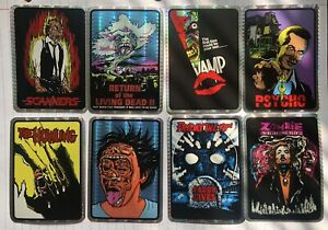 Vintage Horror Movie Kodak Prism Sticker Lot Friday The 13th Howling Scanners