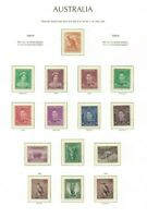 APD583) Australia 1938-46 KGV and Zoological Definitives MUH