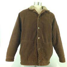 Bullhead Jeans Men's Corduroy Fleece Lined Winter Jacket Size Large L