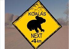 Segnale STRADALE stile australiano Australia Cartello Stradale novità divertente Koala OUTBACK