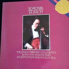 Yo-Yo MA J.S. BACH Unaccompained Cello Suites Columbia CBS D337867 NM