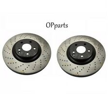 Mercedes R230 W219 W211 E55 AMG Set of 2 Front Disc Brake Rotor Opparts